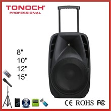 Trolley battery speaker 10 Inch bass large audio loudspeaker box professional stage active speaker with Bluetooth EBH10W