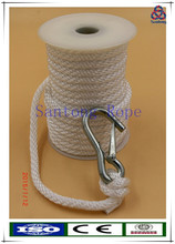 Solid braid pp anchor rope with snap hook