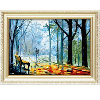 Hot selling Diy oil painting by number kits with landscape design for home decoration