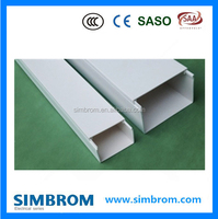 Home used pvc industrial electerical trunking,plastic electrical wire casing, trunking size 120*80mm