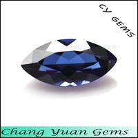 Marquise shape 34# imitation blue sapphire