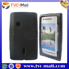 Black Elastic SIlicone Case Cover for Sony Ericsson X8