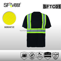 led lighted custom clothes polos shirt high visibility cotton shirt safety t-shirt