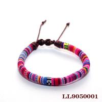 Fashion jewelry fabric wristband woven bracelet bohemia national wind braided bracelets bangle for women and man
