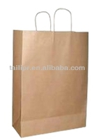 Customized design & high quality packaging paper bag/thin paper bags packaging/recyclable kraft paper bags