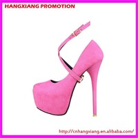 Micro Suede Fabric High Heels Low Price Retail Very High 16 cm Heeled Platform Shoes