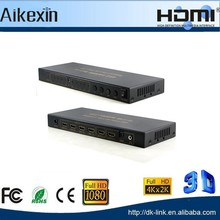 HDMI Video and Audio Matrix Switch 4 x 2 Splitter, 3D Blu ray + SPDIF / Toslink and 3.5mm Audio Output Full HDMI 1.4 Splitter 4K