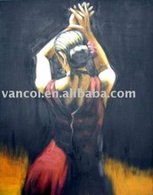wholesale cheap hot semi naked girls canvas oil paintings
