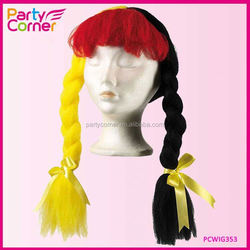 Cheap Fan Wig Germany with Pigtails for Party