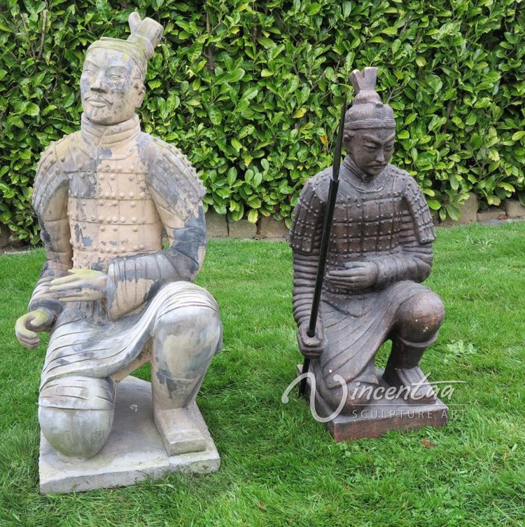 2015 nouveau design d cor jardin bronze samurai warrior for Statue de jardin design