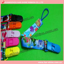 Baby Shower Gift Colorful Dolphine Printed Blue Plastic Pacifier Chain Clip