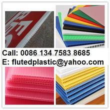Plastic corrugated sign board material