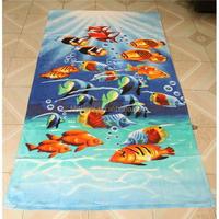 70X100cm 100% cotton velour solid color beach towel