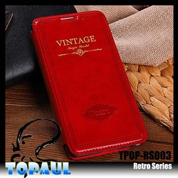 Sex Universa Red Retro PU Leather Cover Case for Iphone