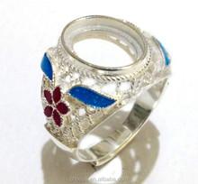 High quality custom jewelry wholesale alibaba hollow fashion gemstone ring set