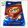 Heat sealed moisture resistant candy packaging bag with header