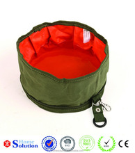 600D Folding oxford fabric water Dog Travel Bowls