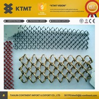 Tianjin KTMT Low Price Metal Coil Drapery/Metal Wire Mesh Shower Curtain for Room Divider from alibaba malaysia