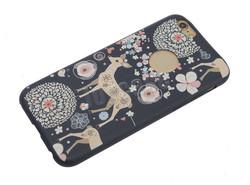 Cute cat PU leather ultra thin case for iphone 6 plus thin case