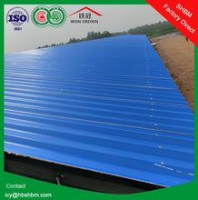 """""""Iron Crown """" high strength lightweight MGO anti-corosion insulated fireproof roofing sheets , single roof"""