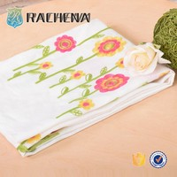 customized wholesale plain embroidery fabric,sunflower embroidery fabric