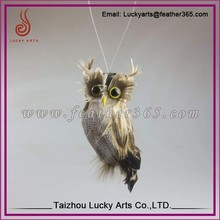 Taizhou Lucky Arts garden fur lifelike wholesale miniature feather owl