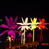 LED lighted yellow LED palm tree light