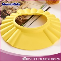 Safe shampoo shower bathing protect soft rubber baby hair wash cap