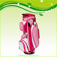 pink custom made portable personalized golf bag
