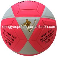 fluorescence pink PVC laminated petola futbol/ soccer ball/football