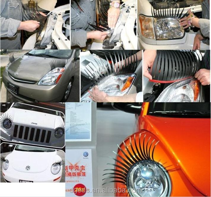 3d Magic Decoration Sexy Car Eyelashes For Headlights Stickers Buy