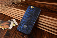 Navy blue Crocodile print case, PU leather, thin design for iphone