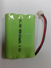 rechargeable Ni-MH AAA 800mah 3.6v battery pack