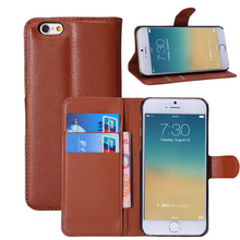 Hot Sell Wallet Design PU Leather Cell Phone Case for iphone 6 wallet case luxury