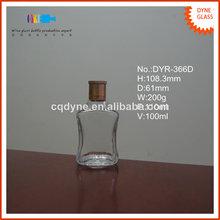100ml plaza pequeña botella de licor