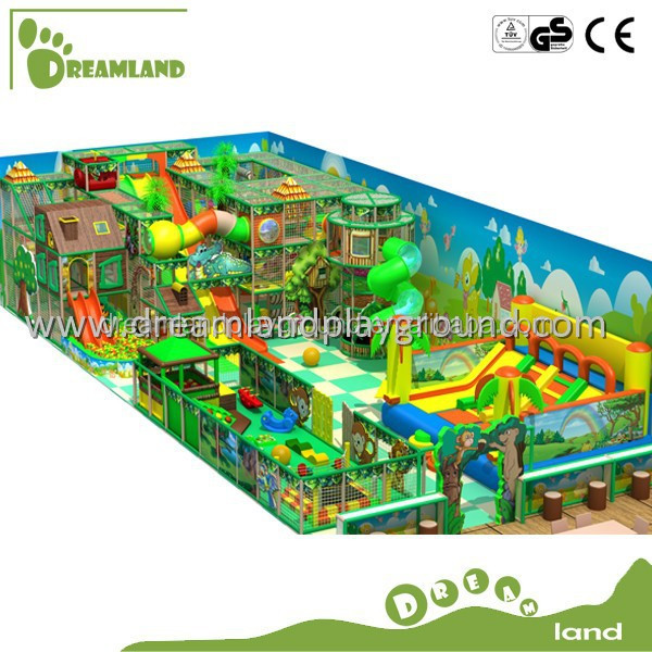 Amusement park jungle theme kids indoor playground for for Indoor play structure prices