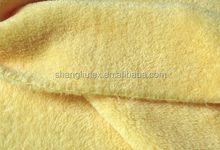 Hot sale cheap polyester dyed Coral fleece bed sheet fabric