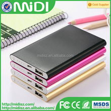 2015 OEM ultra slim power bank , Gift packing power bank 4000mah credit card size micro usb battery charge