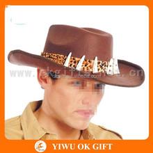 Bone decorate the monster hunter hat, felt cowboy hat, military hats