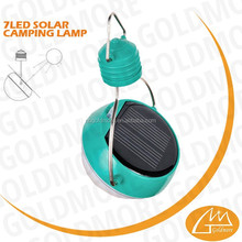 GOLDMORE3 portable 7led solar camping light / LED camping lamp / 7led solar tent lamp