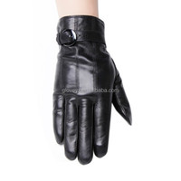 2015 new design male strap on back leather gloves warm leather gloves