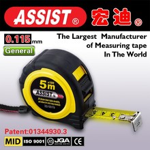 ABS rubber covered case with customized logo measuring tape