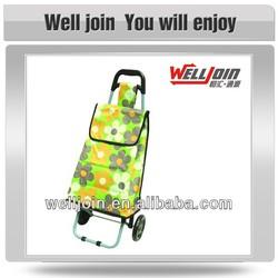 Full Printing Folding Shopping Trolley Bag With 2 Wheels