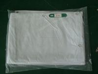 PVC laminated fireproof fabric white fabric