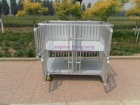 aluminum dog cage with 4 cubes