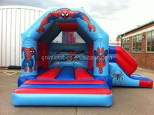 good selling inflatable spiderman combo slide, inflatable combo, inflatable jumper with slide