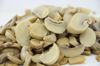 canned edible mushroom pieces and stems in brine 580ml