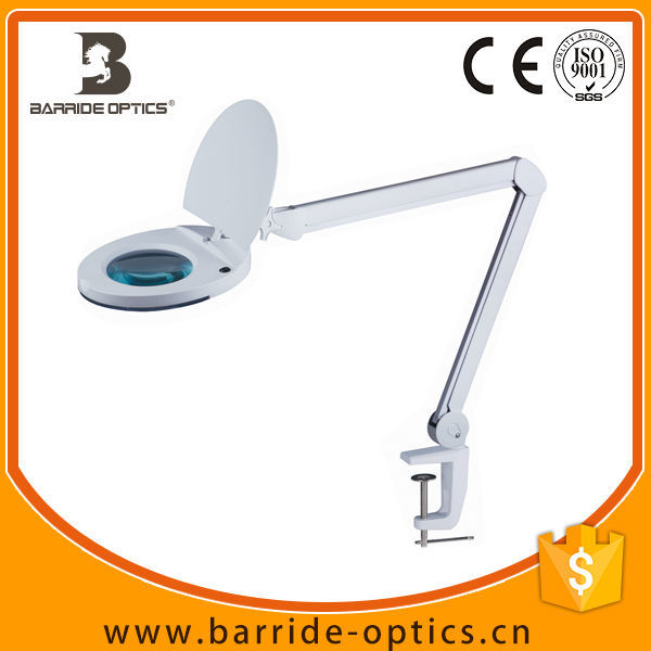 Table Desk Clamp Mount Magnifying Lamp Optical Glass Led