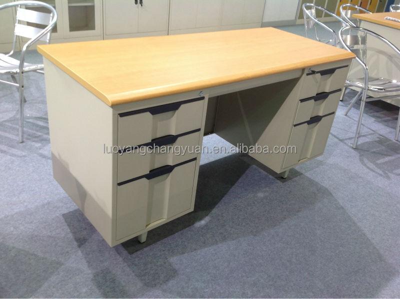 Scholieren kleine computer tafel bureau tafel met laden aan de zijkant slot kantoortafels - Coin bureau ontwerp ...