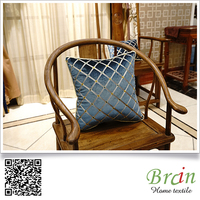 top sale velvet decorative sofa/hotel/car throw pillow handmade fireproof embroidery cushion cover